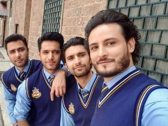 Ahmed Ali Akbar, Wahaj Ali, Ahad Raza Mir, and Osman Khalid Butt at the shoot of EHD E WAFA-1568010057045