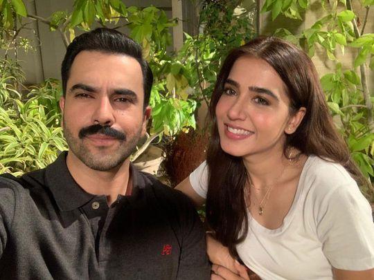 Junaid Khan and Mansha Pasha on the set of KAHAY DIL JIDHAR-1568010319339