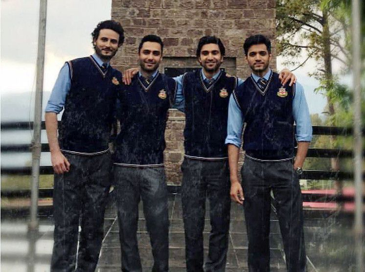 Wahaj Ali, Osman Khalid Butt, Ahad Raza Mir, and Ahmed Ali Akbar at the shoot of EHD E WAFA-1568010059153