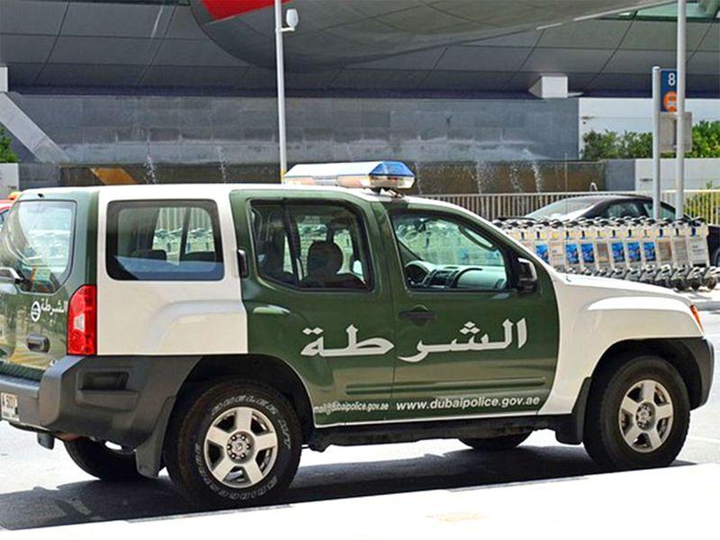 Multi-vehicle collision in Dubai