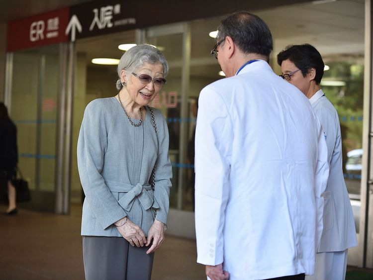 Japan's former Empress Michiko