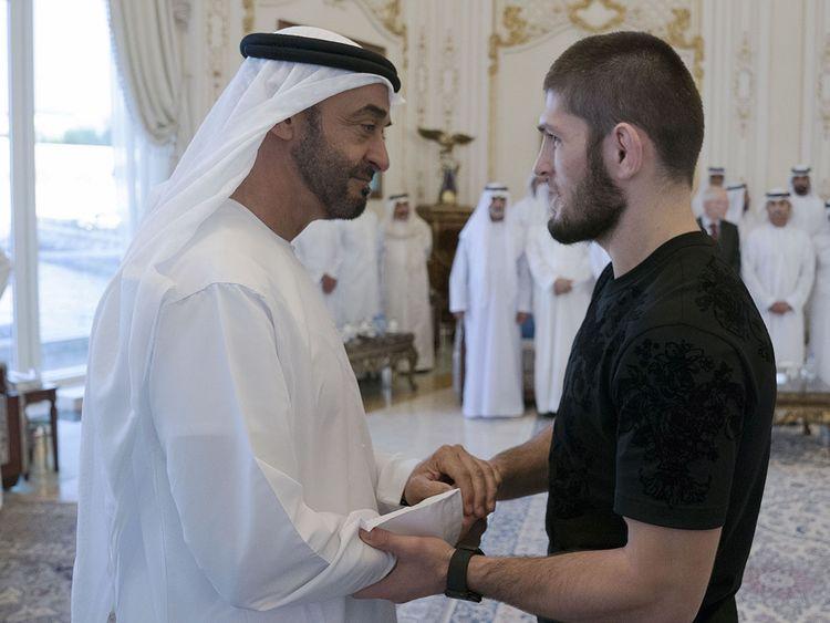 Sheikh Mohamed Bin Zayed receives UFC champion Khabib Nurmagomedov 021
