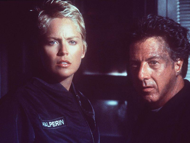 Dustin Hoffman and Sharon Stone in Sphere-1568278489305