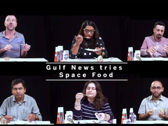 NAT 190913 Gulf News tries Space Food-1568367566425
