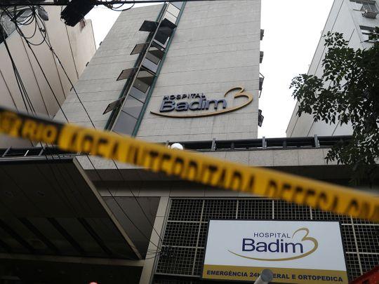 Rio fire at hospital