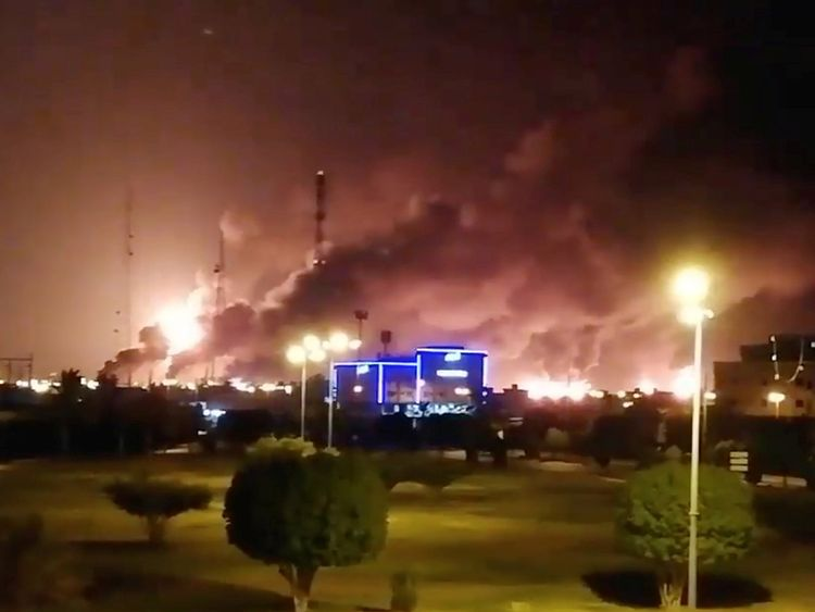 Image result for According to reports, the crude production plant in Saudi has been halted due to the attack