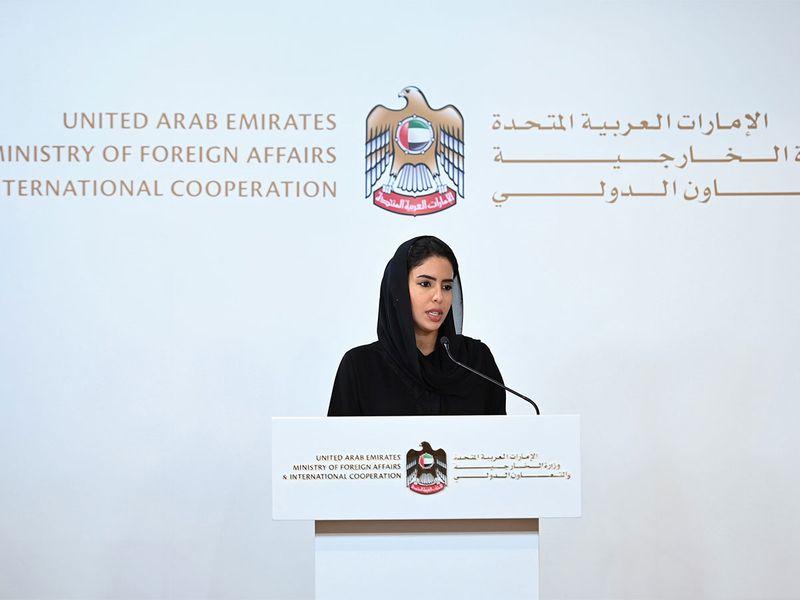 Hend Mana Al Otaiba, MoFAIC Director of Strategic Communications.