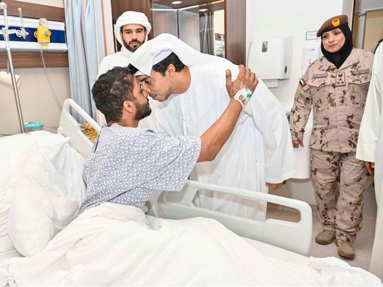 Shaikh Mansour Bin Zayed Al Nahyan hospital visit -012