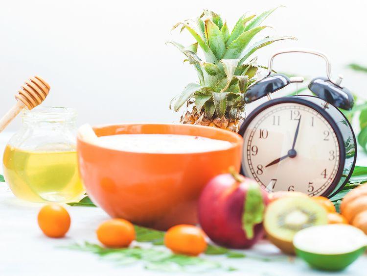 Dubai Health Authority Better Health Regular Diet Clock