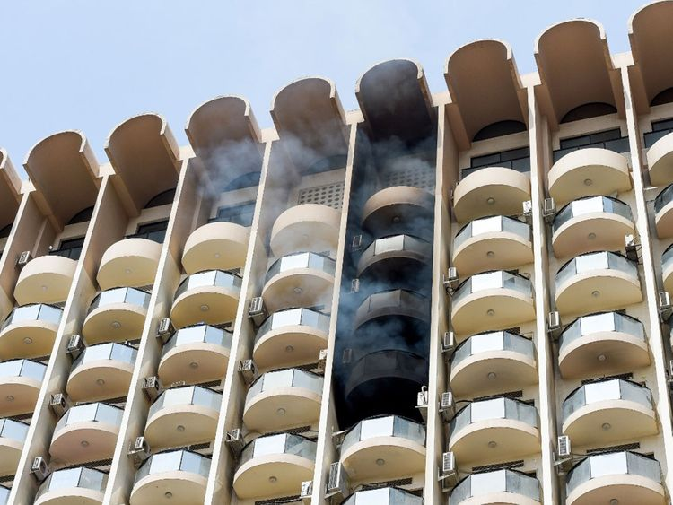 Shaikh Zayed Road fire