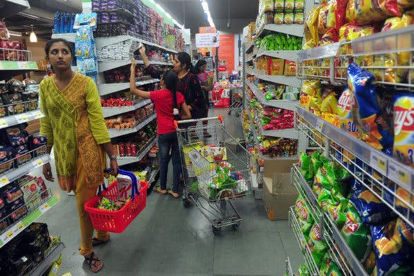 A supermarket in Mumbai. In India and in other countries, an organization funded by food and beverage companies quietly fights restrictions on sugary or processed foods.CreditCreditIndranil Mukherjee  Agence France-Presse-1568714825895