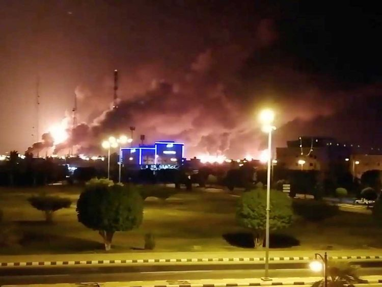 Aramco fire