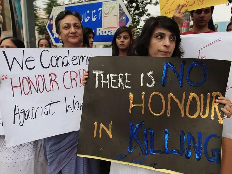 Representative image. A protest against honour killings.