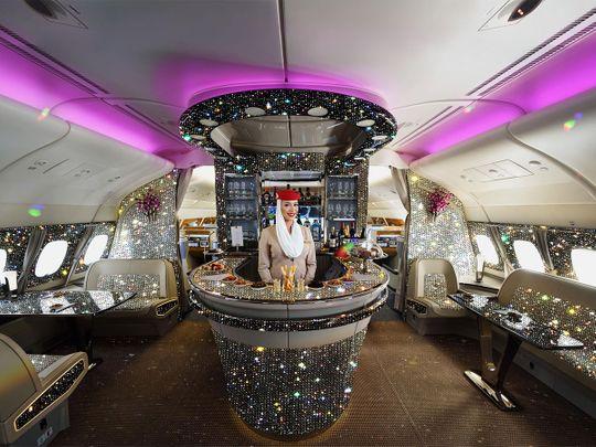 Emirates 'Diamond' A380 Onboard Lounge