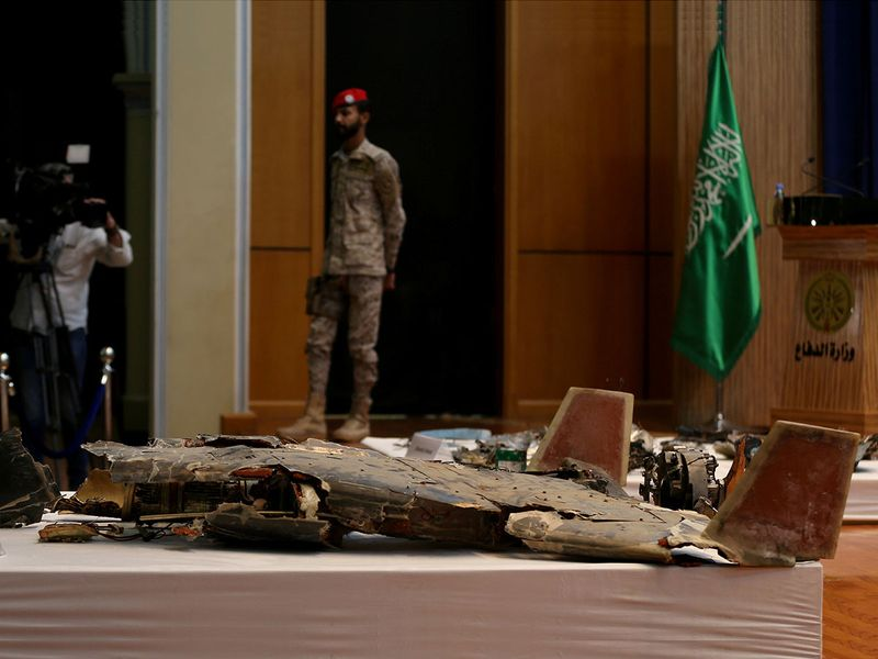 Aramco attack drone remains