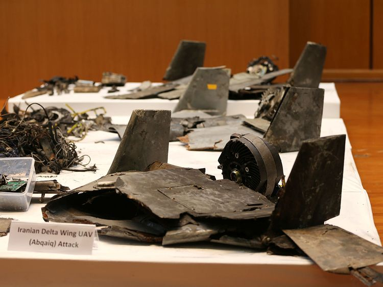 Remains of the Iran drones weapons -0901 21