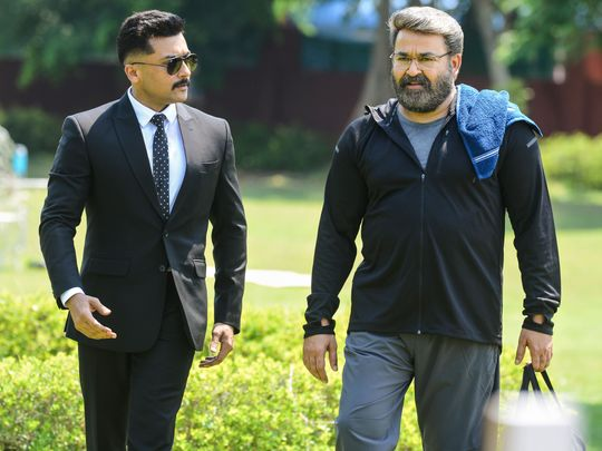 Mohanlal and Surya team up for Tamil film 'Kaappaan' | South-indian – Gulf News