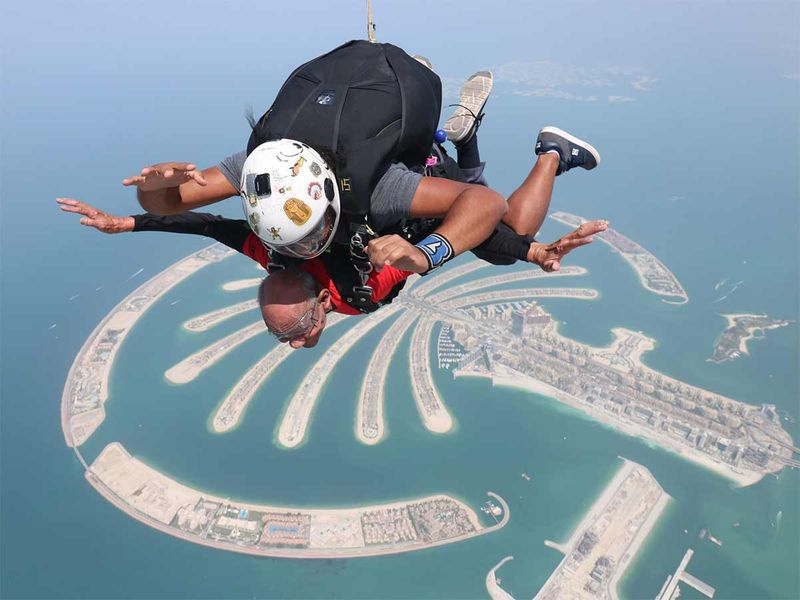 Sushil Kumar enjoying tandem skydiving 20190919