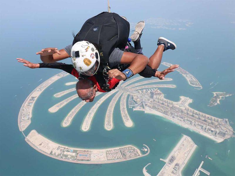 Sushil Kumar enjoying tandem skydiving 20190919