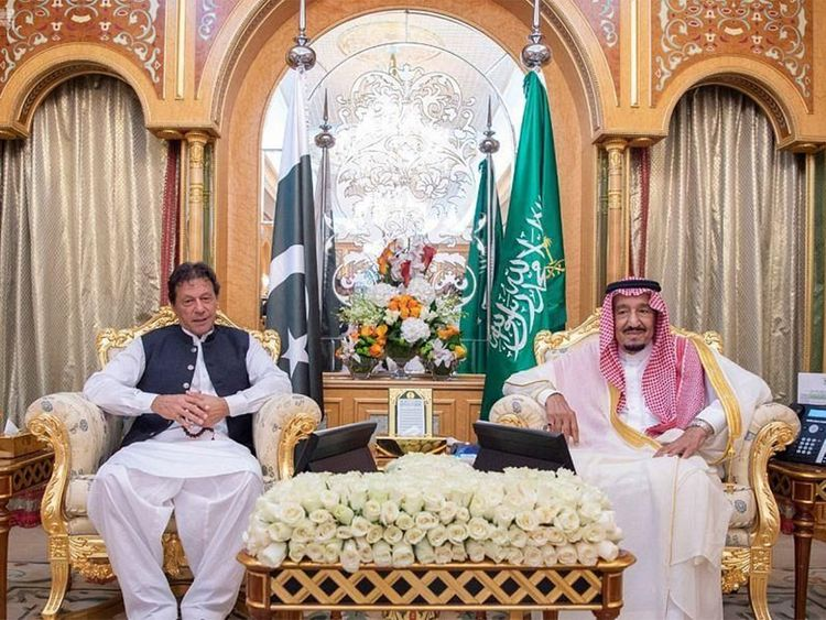 Pakistan's Imran Khan stresses support for Saudi Arabia during ...