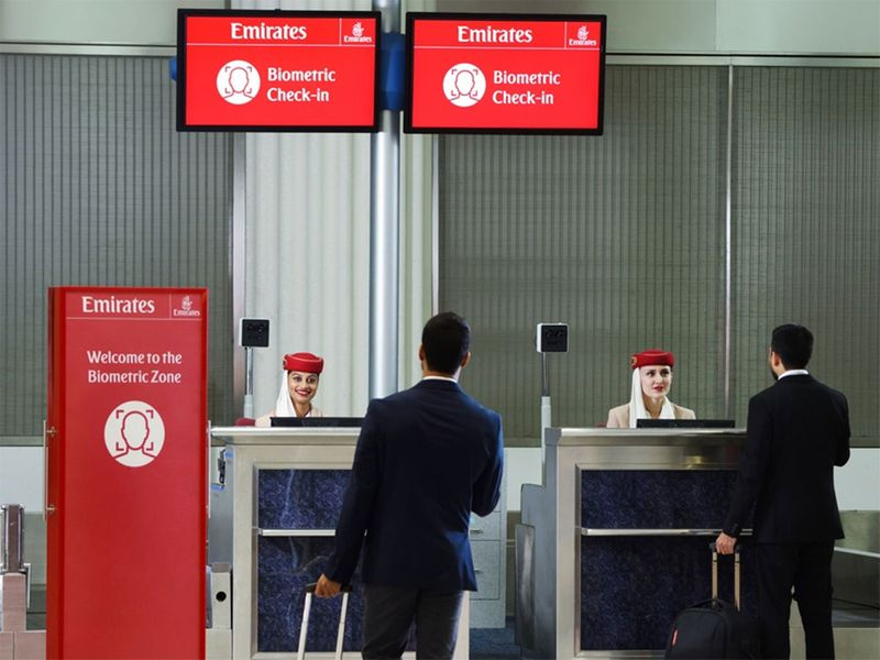 "The world's first integrated ""biometric path"", unveiled by Emirates 00012"