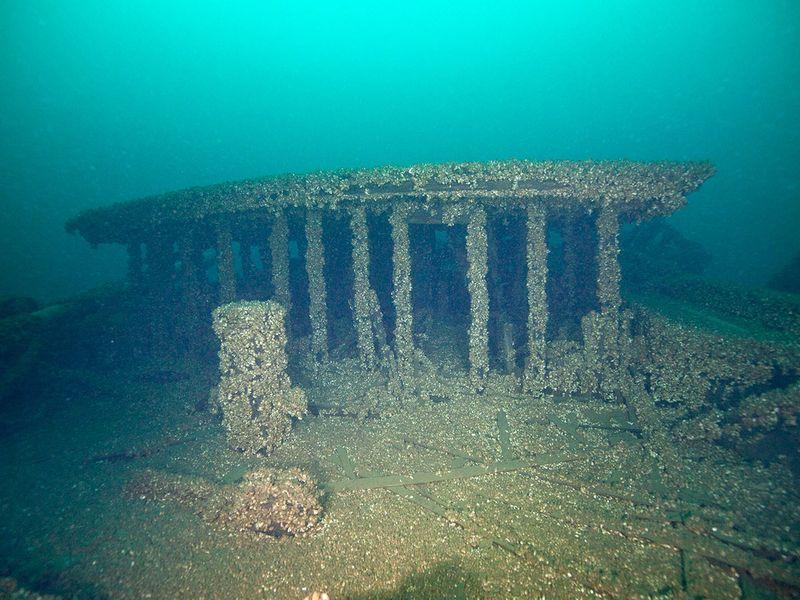 Part of the wreckage of the schooners Peshtigo and St. Andrews
