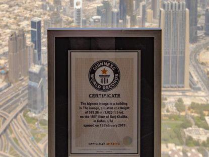 The Lounge Burj Khalifa achieves GWR-1569151698025