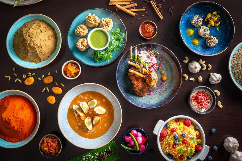 The food at Kinara by Vikas Khanna.