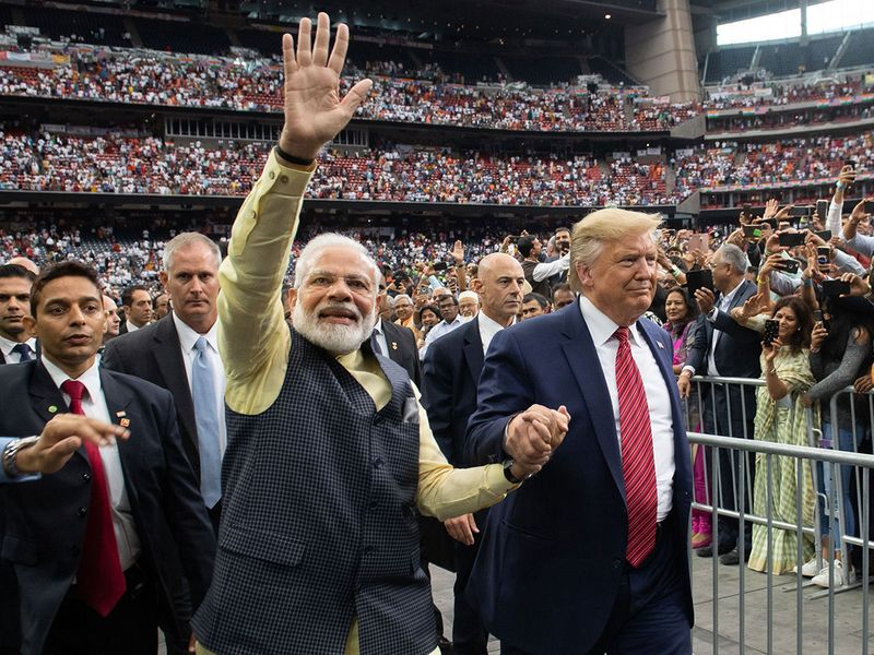 US President Donald Trump and Indian Prime Minister Narendra Modi