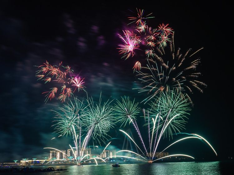 Fireworks at The Beach in Jumeirah Beach Residence