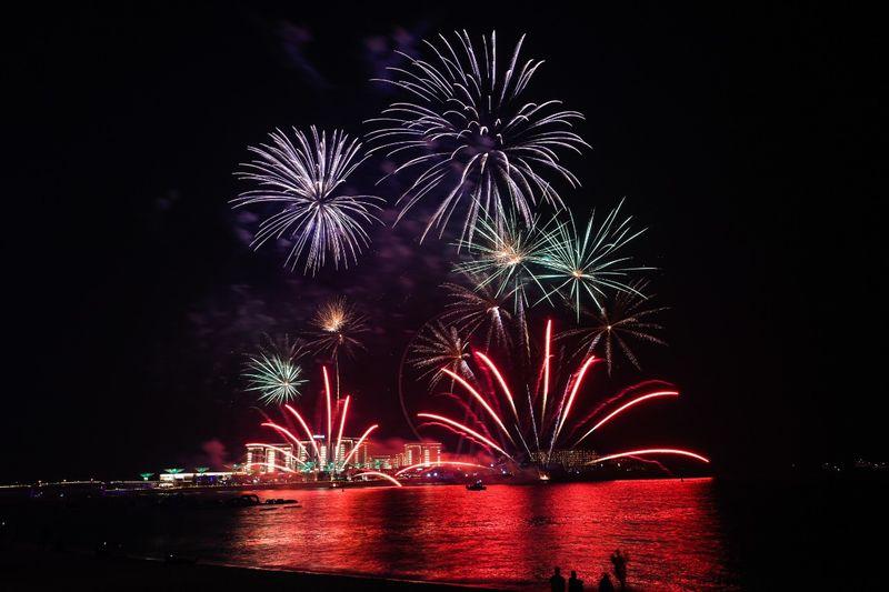 Fireworks at The Beach in Jumeirah Beach Residence