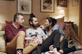 Saks Afridi, Sadiq Samani, and Ami Seth in a still from the short film AGENCY-1569220001774