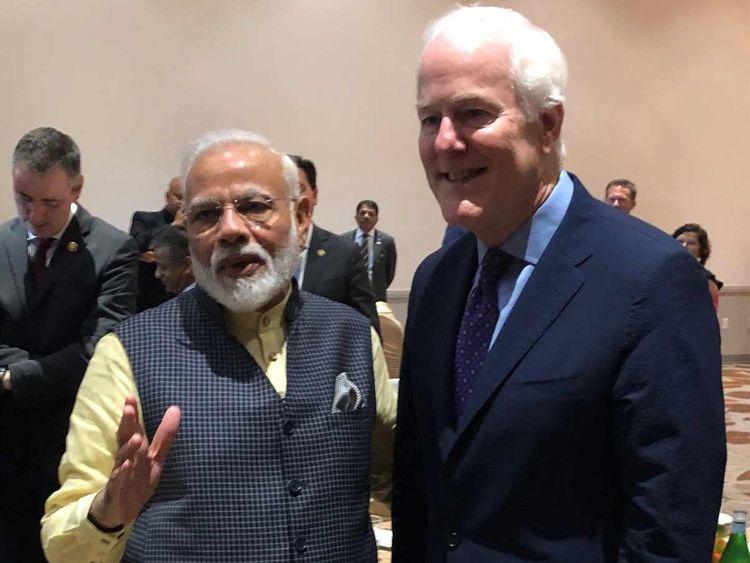 Senator John Cornyn with Modi