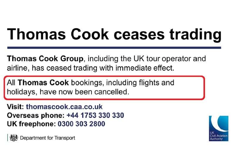 The collapse of Thomas Cook Group left thousands of travelers stranded 0121