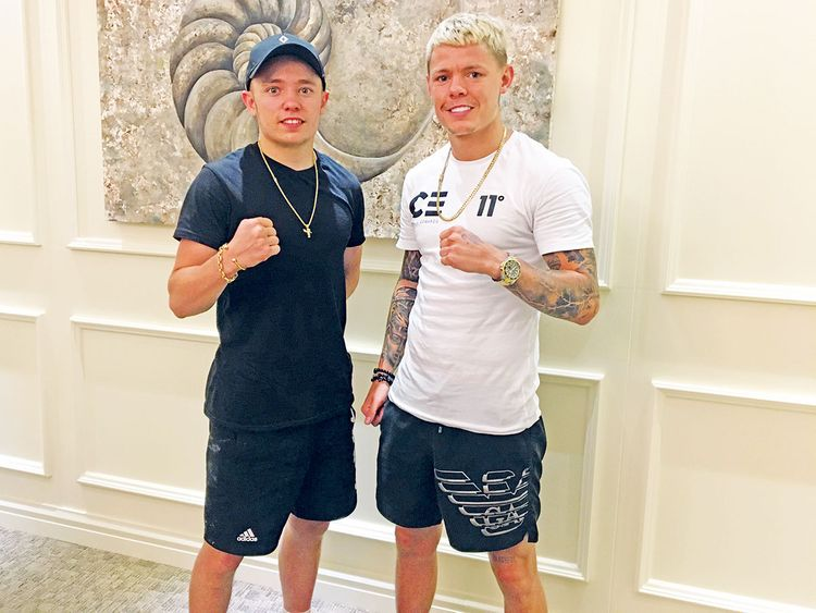 British boxing brothers Sunny (left) and Charlie Edwards