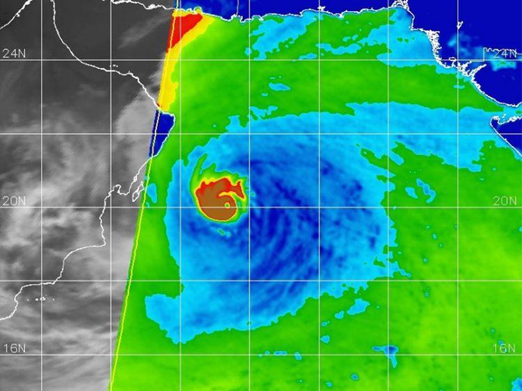 Cyclone Hikka satellite