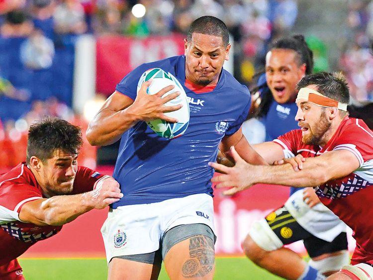Samoa's wing Ed Fidow