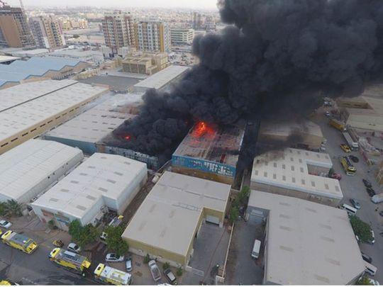 Sharjah warehouse fire