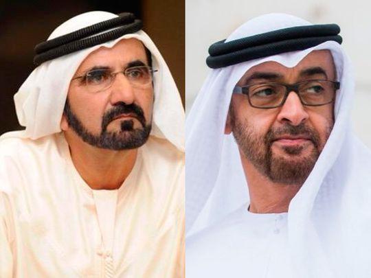 Mohammed Bin Rashid and Mohamed Bin Zayed