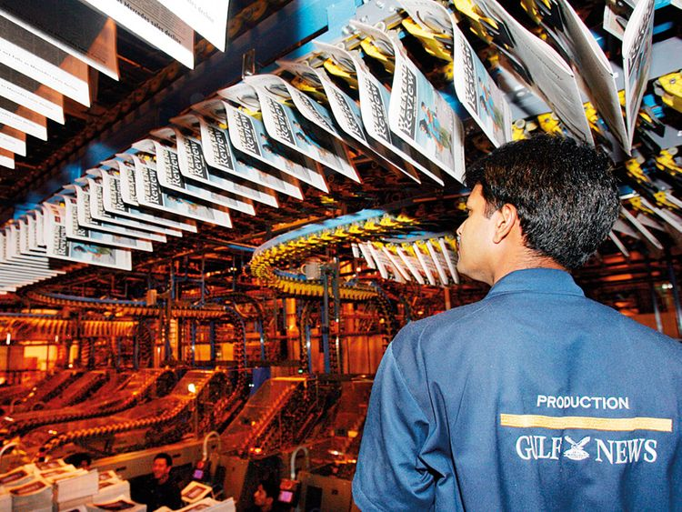 Gulf News printing press