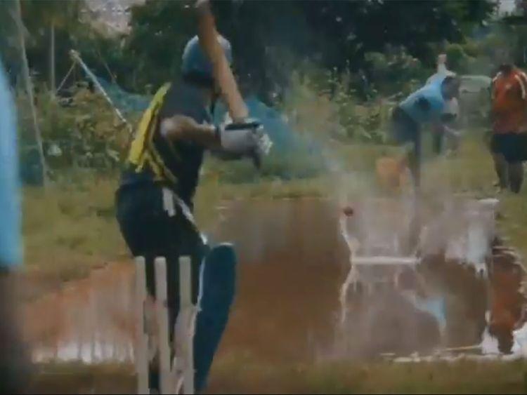 Sachin Tendulkar shares video of practise on water-logged surface