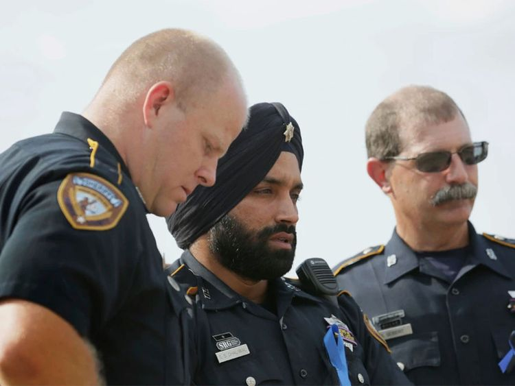 Sandeep Dhaliwal, who made headlines after gaining a religious exemption to wear a turban as part of his police uniform.