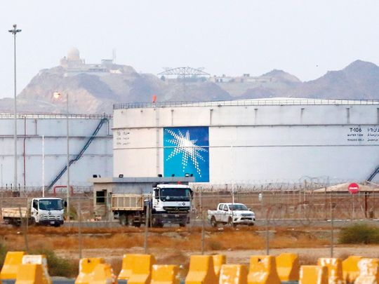 Saudi Aramco oil facility in Jeddah