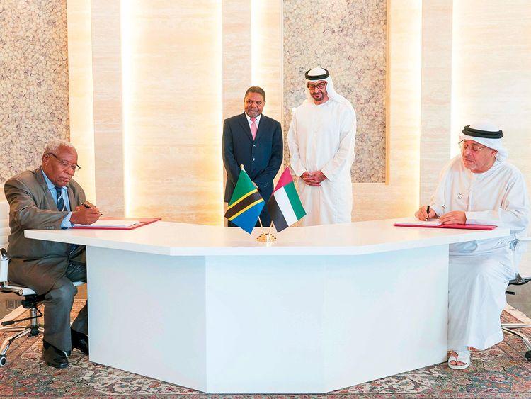 Shaikh Mohammad Bin Zayed and Ali Mohammad Shein