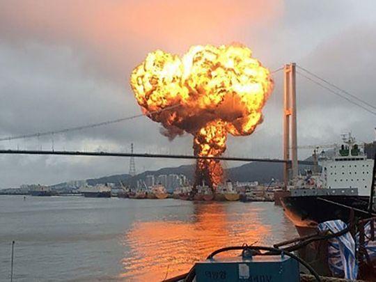South korea tanker blast 2