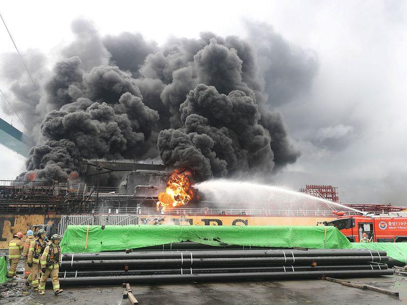 Ulsan south korea tanker blast 1