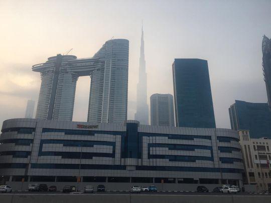 Early morning fog in Dubai on Sunday-001