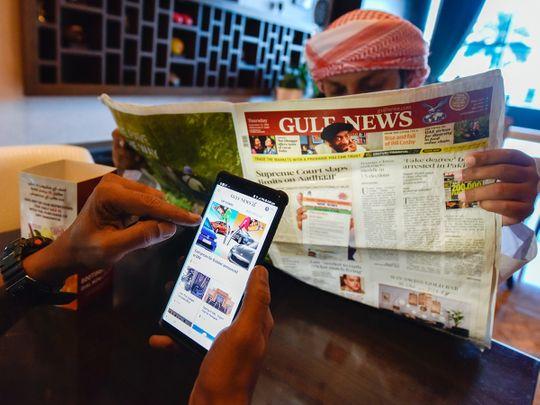 People reading Gulf News
