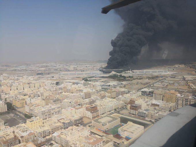 Saudi train fire