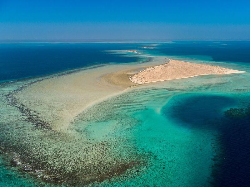 The Red Sea in Saudi Arabia
